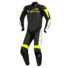 Alpinestars Challenger V2 Black / White / Fluo Yellow One Piece Suit | All Sizes