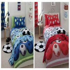 Catherine Lansfield FOOTBALL Simple & double housse couette rouge bleu