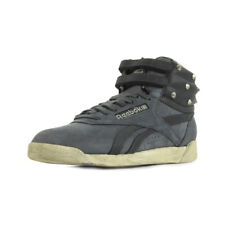 Chaussures Baskets Reebok femme Free Style Hi taille Gris Grise Cuir Lacets