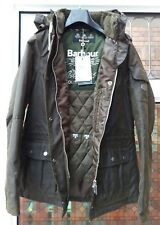 BNWT Womens Barbour Redcliffe Hooded Quilted Wax Jacket Olive UK10 rrp£249