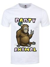 T-Shirt Party Animal Homme Blanc