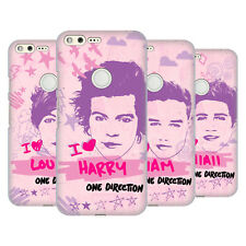 OFFICIAL ONE DIRECTION PINK GRAPHIC FACES HARD BACK CASE FOR GOOGLE PHONES