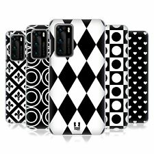 HEAD CASE DESIGNS BLACK AND WHITE PATTERNS HARD BACK CASE FOR HUAWEI PHONES 1