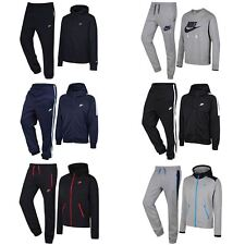 NIKE MEN'S TRACKSUITS AIR SWOOSH HYBRID TRIBUTE BLACK NAVY GREY S M L XL FLEECE