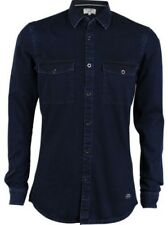 TOM TAILOR Denim Hombre Camisa vaquera Coated Denim