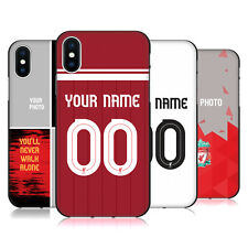 CUSTOMISED LIVERPOOL FC LFC 2017/18 COVER IN GEL NERA PER APPLE iPHONE TELEFONI