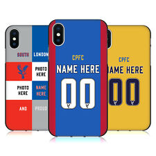 PERSONALIZZATA CRYSTAL PALACE FC 2016/17 COVER IN GEL NERA PER APPLE iPHONE