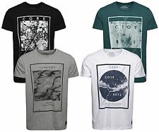 NUOVO JACK & Jones Core Maglietta Uomo JJ CO MAKE Ss Girocollo