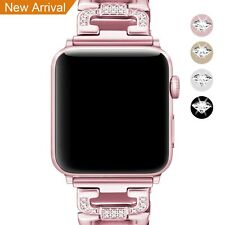 For Apple Watch Strap 38mm Band Sparkling Rose Gold Stainless Steel Series 1 2 3