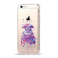 My neighbour Totoro TRANSPARENTE Acuarela Funda Iphone 5 / 5s / SE 6 / 6s 7 8