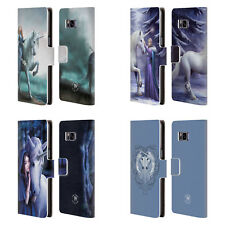 OFFICIAL ANNE STOKES UNICORNS 2 LEATHER BOOK WALLET CASE FOR SAMSUNG PHONES 1