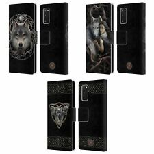 OFFICIAL ANNE STOKES WOLVES 2 LEATHER BOOK WALLET CASE FOR SAMSUNG PHONES 1
