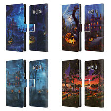 OFFICIAL GENO PEOPLES ART HALLOWEEN LEATHER BOOK CASE FOR SAMSUNG PHONES 3