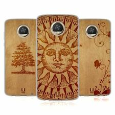 HEAD CASE DESIGNS WOOD ART SOFT GEL CASE FOR MOTOROLA PHONES