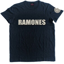 RAMONES' LOGO AND SEAL ' Applique SLUB T-SHIRT - NUOVO E ORIGINALE