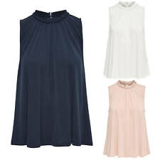 Ladies Shirt Blouse Onlmary S/L Tunic Oversize Summer Blue White Pink New