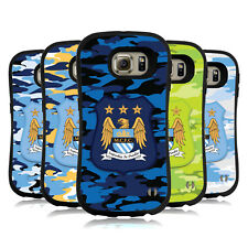 OFFICIAL MANCHESTER CITY MAN CITY FC CAMOU HYBRID CASE FOR SAMSUNG PHONES