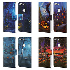 OFFICIAL GENO PEOPLES ART HALLOWEEN LEATHER BOOK WALLET CASE FOR GOOGLE PHONES