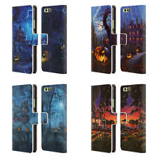OFFICIAL GENO PEOPLES ART HALLOWEEN LEATHER BOOK WALLET CASE FOR HUAWEI PHONES