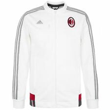 adidas AC MILAN ANTHEM JACKET WHITE FULL ZIP CLIMALITE 15/16 FOOTBALL TRACK TOP