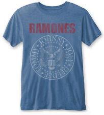 RAMONES' Presidential Seal ' (Blue) Burnout T-shirt - NUOVO E ORIGINALE