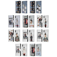 OFFICIAL 1D GROUP PHOTO SOLO LEATHER BOOK WALLET CASE FOR APPLE iPHONE PHONES