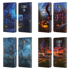 OFFICIAL GENO PEOPLES ART HALLOWEEN LEATHER BOOK WALLET CASE FOR LG PHONES 1