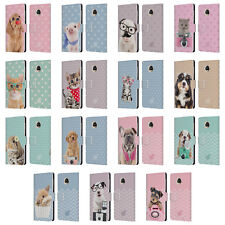 OFFICIAL STUDIO PETS PATTERNS LEATHER BOOK WALLET CASE COVER FOR MOTOROLA PHONES
