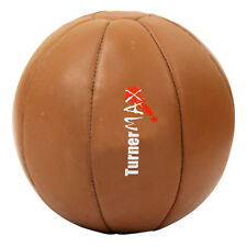 TurnerMAX Pro Medicine Ball Leather Heavy Duty Fitness Gym Training Workout