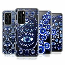 HEAD CASE DESIGNS BLUE EYE PATTERNS SOFT GEL CASE FOR HUAWEI PHONES