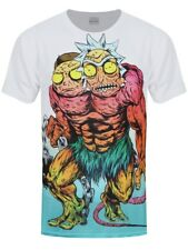 Rick and Morty Monster Sublimation All Over Print Men's White T-shirt