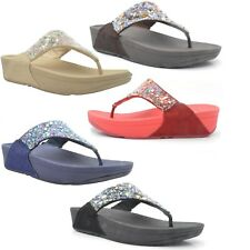 Mujer FitFlop Chica Roquera Sandalias FIT Flops Verano Playa de cuña 221