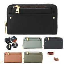 Women's Zip Coin Purse With Removable Pouch Ladies Faux Leather Wallet New Look