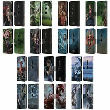 OFFICIAL ANNE STOKES DRAGON FRIENDSHIP LEATHER BOOK CASE FOR SONY PHONES 1