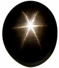 Natural Extra Fine Black Star Sapphire - Oval Cabochon - AAA+ Grade - Unheated,