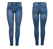 Jeans Donna Leggings ONLROYAL REG SKINNY BIKER bj11503 jeggings pantaloni blu