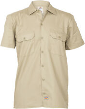 Dickies WORK SHIRT Herren Retro SHORT SLEEVE Kurzarm HEMD - Khaki Rockabilly