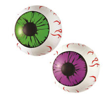 Inflatable Eyes Blow Up Green Purple Scary Fancy Dress Party Decoration