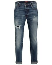 JACK & JONES JEANS UOMO JJITIM jjpage BL 790 AW24 slim fit - Blu - DENIM BLU