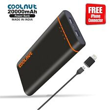 COOLNUT 20000mAH Power Bank for Phones + 1 Year Warranty