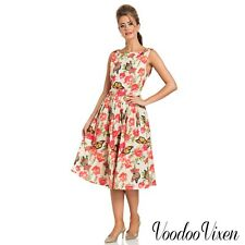 Voodoo Vixen New Collection'18 S/S Vintage 50's Laura Butterfly Swing Dress