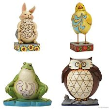 Heartwood Creek Lazy Animals Figurines Frog Owl Bunny Chick Jim Shore