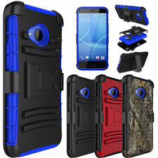 For HTC U11 Life Shockproof Hybrid Kickstand Clip Hard Impact Phone Case Cover