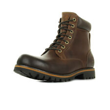 Chaussures Boots Timberland homme 6 Ptb Red taille Marron Cuir Lacets