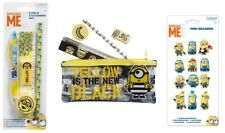 DESPICABLE ME & MINIONS STATIONERY SETS Pencils Erasers Kids Back To School NEW