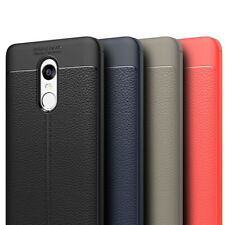 For Xiaomi Mi Redmi Note 5 Autofocus Soft Silicone Leather Look Back Cover Case