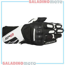 GUANTI MOTO PELLE ALPINESTARS SP-8 V2 GLOVES NERO BIANCO 3558317