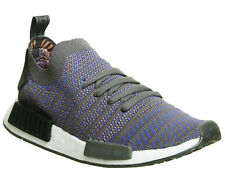 Adidas Nmd R1 Prime Knit Trainers HI RES BLUE BLACK WHITE Trainers Shoes