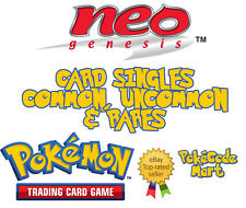 Pokemon TCG Neo Genesis Card Selection: Uncommon, Common, Rare Singles You Pick