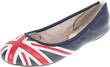 Butterfly Twists JACQUI Retro Union Jack Ballet Flats BALLERINAS Rockabilly